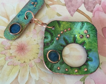 Enameled Copper Clasp
