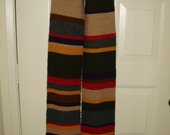 Wool Mini Season 12-14 Doctor Who Replica Hand Knit Scarf Fourth Doctor Tom Baker from Ashlee's Knits