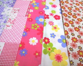SALE Japanese Fabric Flower  FQ 5Pices S6-15