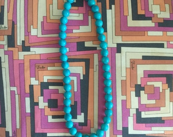 Turquoise beaded necklace (vintage)