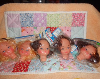 Doll Heads-New-Old Stock-Four Doll Head