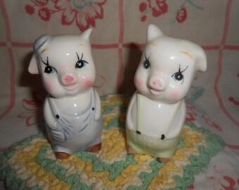 Vintage Pig Salt and Pepper Shakers