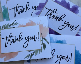 Digital Download for 4 Colors - Watercolor Thank You Cards