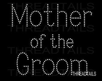 Mother of the Groom Rhinestone Bling t-shirt for the Groom's Mom.  Bachelorette, Wedding party, bridal shower, destination weddings tee, top