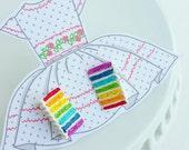 cute rainbow cake earrings / little girl
