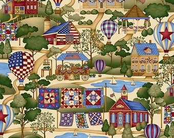 Henry Glass Summer Festival Fabric Large Scale Print