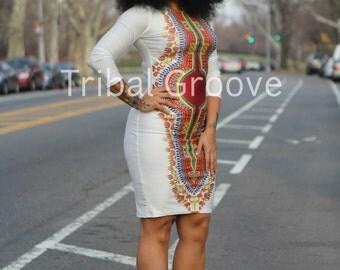 The Stretch Body Con Dashiki Dress