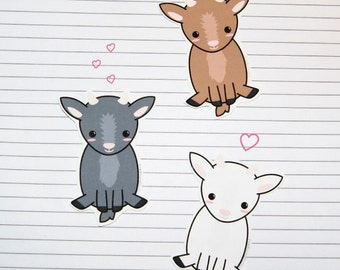 Chibi Goat Stickers and Magnets