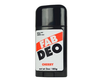 CHERRY Natural Deodorant Deoderant Stick Vegan