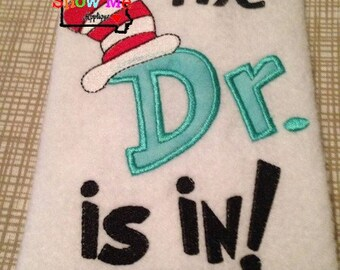 The Doctor Is In Applique Machine Embroidery Design