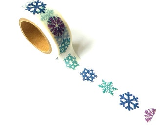 Christmas Washi Tape Snowflakes Blue
