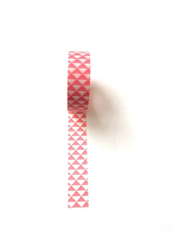 Washi tape pink geometric from littledutchshop on etsy studio for Geometric washi tape designs