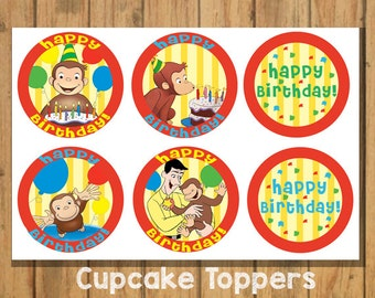 DIY Curious George Cupcake Topper