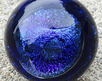 Blue Dream Marble OOAK Contemporary Art Glass by JKLD