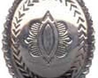 "1 1/4"" x 1"" Oval Southwestern Concho Shank Button 33mm x  27mm"
