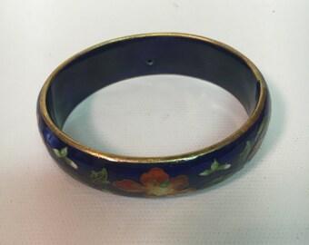 Cloisonné Bangle Bracelet
