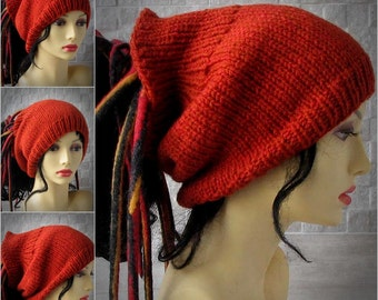 Pumpkin Dreadlocks headband, dreads wrap dread tube Tam Hat for Dreads  Knitting Headband