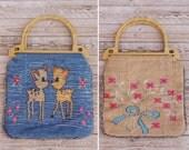 1960s Handbag - Vintage 60s Tapestry Handbag - Cute Overload Handbag