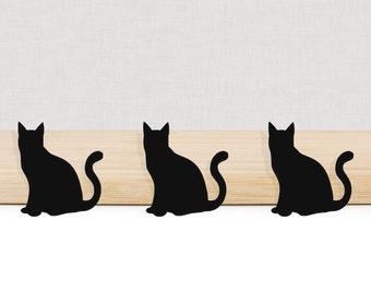 Black Cat die cuts, set of 10. Custom Colors and Sizes.