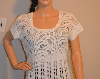 Snow White Hand Made Crochet Shirt