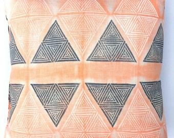 Triangle Maze Throw Pillow