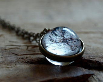 Globe necklace  Etsy
