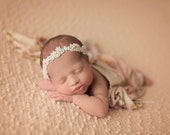 pearls,newborn headband, baby headband, head wrap, baby head wrap