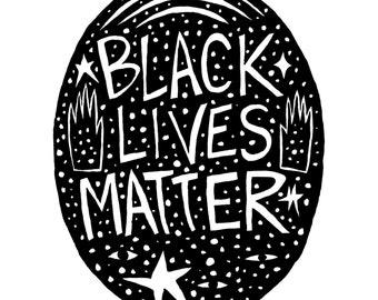 BLACK LIVES MATTER Ink Fine Art Print
