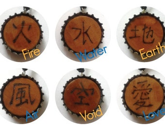 Elements Adjustable Recycled Bottlecap Necklaces