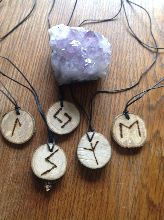 Custom Healing Empowering Rune Necklace