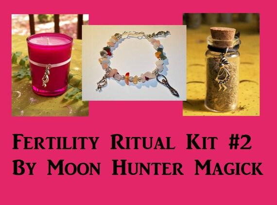 Fertility Ritual Combo Kit#2 Fertility Crystal Healing Kit