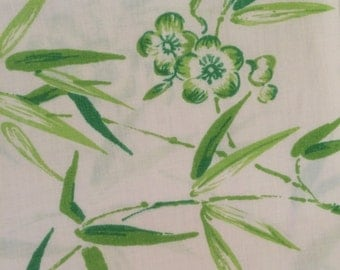 bamboo pillowcase flowers bamboo plants fabric tropical asian style green bamboo