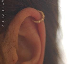 Helix hoop - Helix earring, Cartilage earring, Cartilage piercing - Helix jewelry - Minimal Helix jewelry - Tiny Hoop - piercing hoop