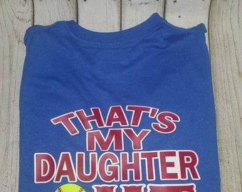 That's My Daughter Out there Softball Mom T Shirt Softball Monogram Circle Monogram Softball Life Mom