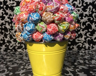 Yellow Dum Dum Lollipop Bouquet/Centerpiece
