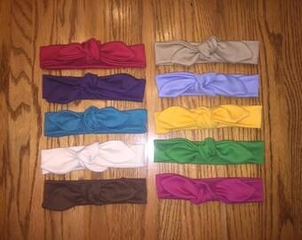 SALE - 10 Large Knot Headbands, Jersey Knit Headbands, Turbans, Headbands, Baby Headbands, Head Wrap, Headband, Knot Headband, Baby Headwrap