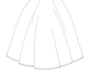 MELANGE: handknitted wool skirt