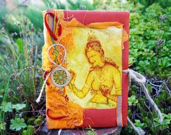 Yoga journal Oriental notebook travel journal girl's diary Custom journal India notebook Boho journal Yoga diary Blank Book Writing journal