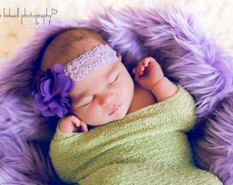 Purple Ruffle Headband