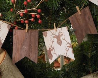 Rustic Woodland Christmas Banner