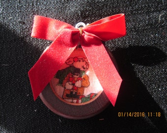 Holiday Lamb with Toy Soldier Christmas Tree Ornament