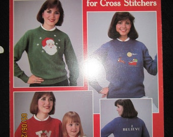 Christmas Sweaters for Cross Stitchers Leisure  Arts Leaflet 444
