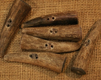 Natural Cow Horn Toggles, extra large.