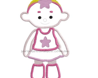 Pink Cloud Babies (Cloud Baby) Embroidery Design