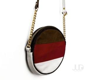 pastel leather purse - leather bag SALE crossbody leather purse bag - womens shoulder bag - leather pouch - petite pochette - handmade purse