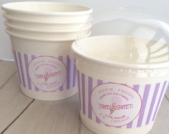 Labels Wraps for Ice Cream Hot or Cold Cups (PDF file)- Ice Cream Party, Ice Cream Birthday- Popcorn Cup Favor Cup Wraps, Sweet Shop Labels