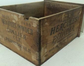 D3 Vintage Handmade Workbench Drawer Wood Shipping Crate Hercules Organization Storage Rustic Primitive