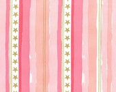 Stars and Stripes in Pink Metallic - Magic collection - Michael Miller - Fat Quarter, Half Yard or More
