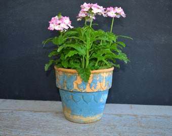 Antique Red Wing Flowerpot | Vintage Bisque Flower Pot | Red Wing Stoneware | Garden Pottery