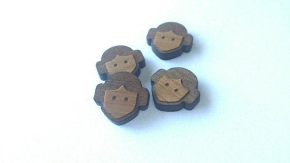 8 Pieces. Laser Cut Cherrywood Princess shapes. Craft Supplies.  DIY Supplies